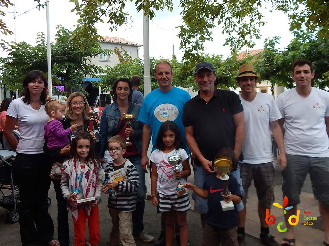 Finalistes des Olympiades de jeux en bois BCD à Caraman (Haute-Garonne)