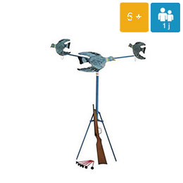 animation-jeux-geants-Tir au pigeon